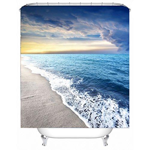 AI XIN SHOP Badezimmer- 3D Seascape Premium Wasserdichtes Mehltau-widerstandsfähiges Anti-Bakterien-Polyester-Bad-Duschvorhang, Haken inklusive (größe : 1.8 * 1.8m)