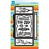 Marianne Design Fustelle Craftables Cutting Die Cartoncino per Scatole, Metal, Grey, 30x18x0.4 cm