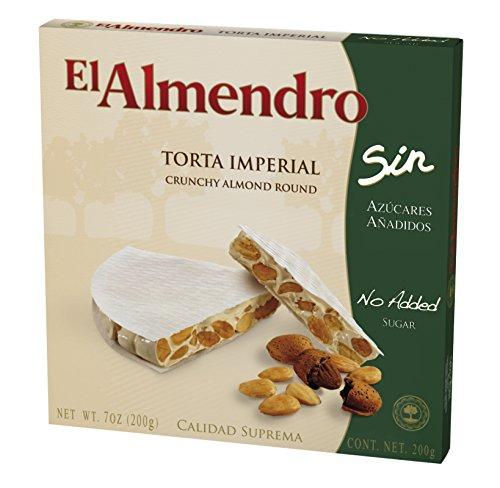 El Almendro Turrón Imperial de Almendra, sin Azúcares Añadidos - 200 gr