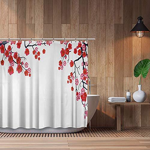 cortinas ducha flores