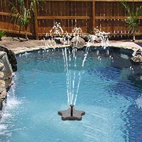 Denret3rgu Outdoor Starfish Solar Power Water Fountain Pump Bird Bath Garden Decoration