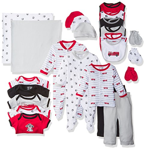 Luvable Friends Baby Layette Gift Cube, Fire Truck, 0-6 Months