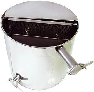 LYSON Abfüllbehälter Siebkübel 50l, mit Zwei Senkrechtem Sieben, Rostfrei