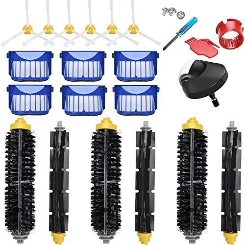 JoyBros Pièces de rechange avec roue principale brosse latérale filtre et accessoires compatibles pour iRobot Roomba 600 614 650 660 671 675 690 692 aspirateur