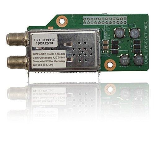GigaBlue Dual DVB-S2X Tuner, silber