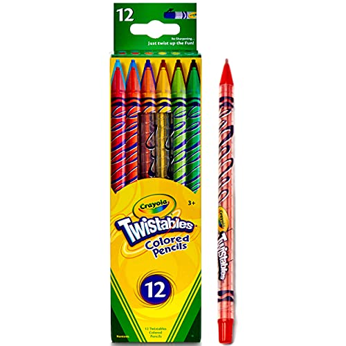 Crayola Twistables Colored Pencils, 12 Count, Assorted Colors
