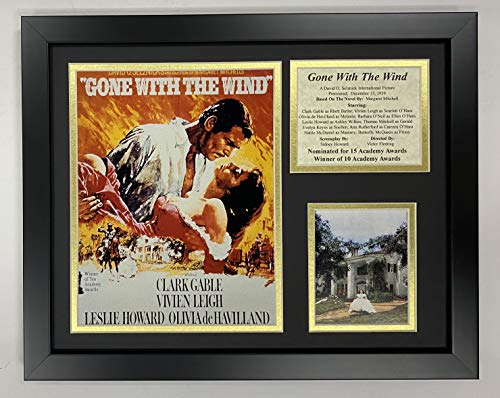 Gone with The Wind 11' x 14' Framed Photo Collage by Legends Never Die, Inc. - Movie Art
