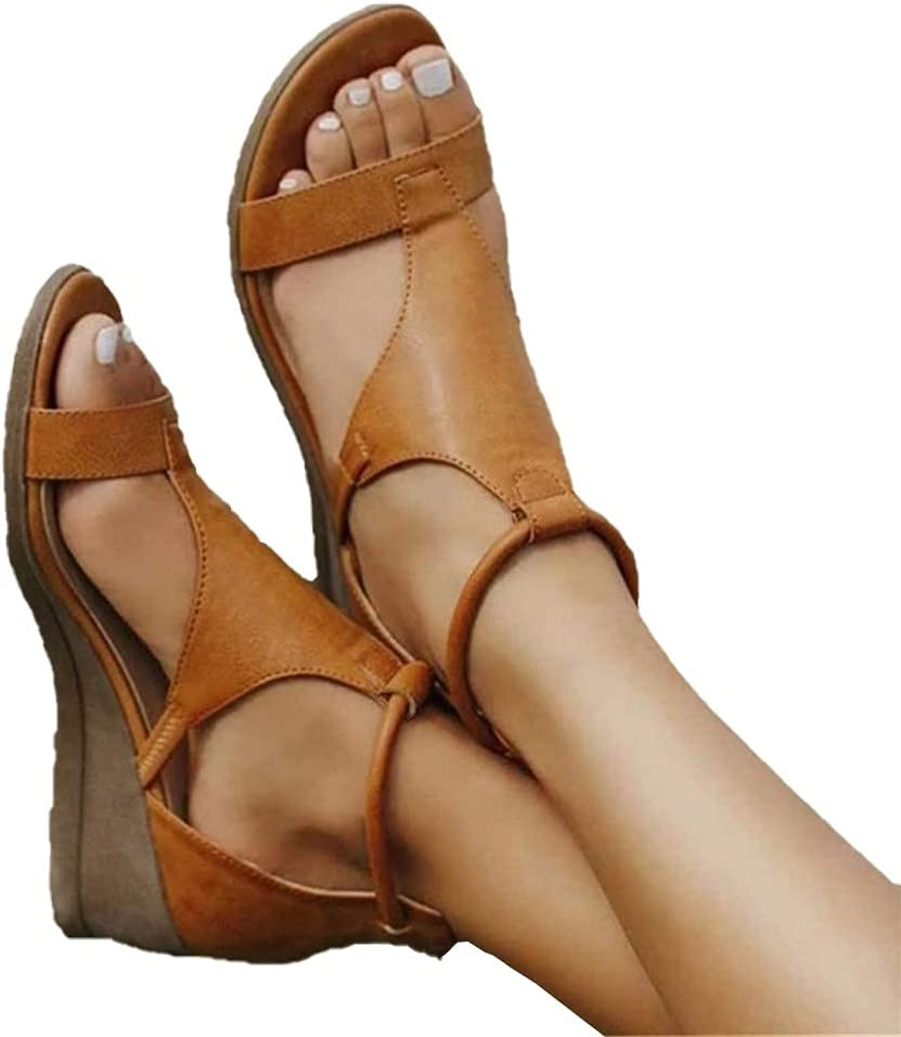BAIYAN Fashion Wedges wholesale 55% OFF Shoes for Women Heels T-bar Sandals Sexy O