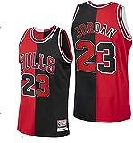 MMMP NBA Jersey, Jersey de Baloncesto Retro # 23, Camiseta Bordada Unisex Transpirable Resistente al Desgaste (Color : Red, Size : L/Large)