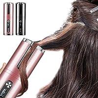 自動巻き髪 USB充電 自動カール ヘアアイロン オートカール コードレス 温度調節可能 内巻き外巻き 多機能 初心者 持ち運び便利 火傷防止 人気 日本語説明書 (ピンク)