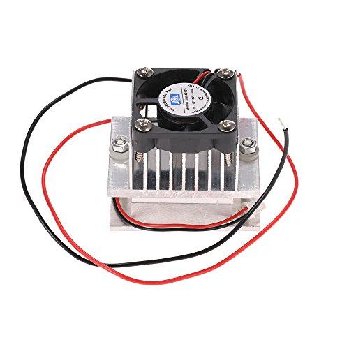 KKmoon Kit de bricolaje termoeléctrico Peltier Refrigeración Sistema de refrigeración Disipador de calor Módulo de conducción + Ventilador + TEC1-12706