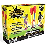 Stomp Rocket Dueling Rockets, 4 Rockets and Rocket Launcher - Outdoor Rocket Toy Gift for Boys and...