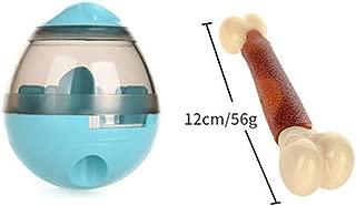 ペットフードフードボールをリークして、IQタンブラーのデザインを改善し、犬と猫用の掃除が簡単で面白いドッグフード Blue molar bone
