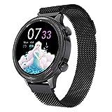 AKL Smart Watch Ladies Men Activity Tracker Rate Cardy Frecuencia de la presión Arterial Monitor de Las Damas Impermeables Reloj Inteligente,B