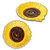 Spoon Rest Spoon Holder for Stove Top 2 PCS Spoon Rest for Kitchen Counter Spoon Rest for Stove Top Ceramic Spoon Rest sunflower shape