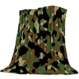 LIUDALA Camouflage Decken Tagesdecke Flanell Fleece Reiseabdeckung Personalisierte Fleece Durable Comfort Camping Picknick Wohnheim Decke 150x200cm