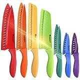 Mogaguo color Juego de Cuchillos de Cocina, Cuchillos Cocina profesional chef, set de Cuchillos de Cocina Acero inoxidable
