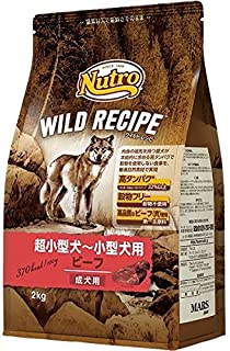 ニュートロジャパン ワイルド レシピ [超小型犬-小型犬用] 成犬用 ビーフ 2kg