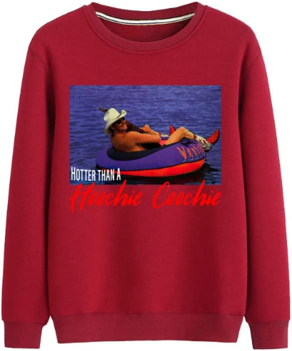 Pullover Hotter Than a Hoochie Coochie All-Match Pullover Casual Print Men (Color : A03, Size : Medium)
