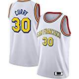DENGPAO Blanco Stephen Clothing Curry Traning Jersey Golden Basketball Jersey State Embroidery Warriors #30 Hardwood Classics Finish Swingman Jersey Classic Edition - L