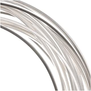 BeadSmith Non-Tarnish Silver Plated Copper Square Craft Bead Wire 18Ga (12Ft)