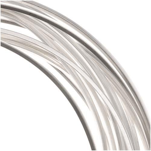 The Beadsmith Non-Tarnish Silver Plated Copper Square Craft Bead Wire 18Ga (12Ft)