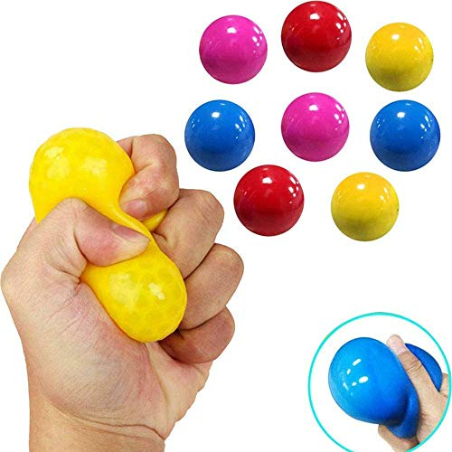 youfenghui 10 Pcs Fluorescent Sticky Wall Ball Sticky Target Ball, Squish Ball, Decompression Toy can be Glued to The Ceiling, for Kids/Adults (Color Random)
