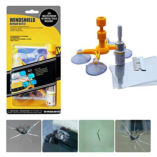Auplew Auto Windschutzscheiben Reparaturset Werkzeug Auto Steinschlag Reparaturset für Halbmondrisse oder Kombinationsrisse