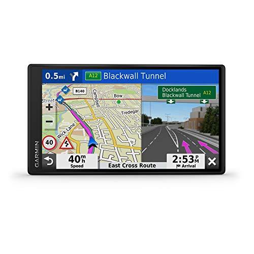 Garmin DriveSmart 55 MT-S 14,9 cm (5,5 Zoll) Navigationsgerät mit Edge zu Edge Display, Kartenupdates für Großbritannien und Irland, Live-Verkehr, Bluetooth-Freisprecheinrichtung und Fahrerwarnungen