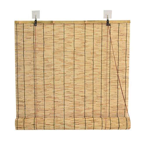 SU-AMEI Persianas enrollables Exterior, Persiana Enrollable de bambú, Cortina de bambú, sombrillas de Madera for Puertas, Patio Exterior, galería, balcón (Size : 100 * 100cm)