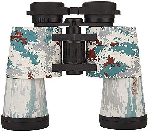 Binocilars de Metal 10x50 Telescopio de Camuflaje de Mano, Impermeable, a Prueba de Golpes BAK4, Caza y Pesca con Revestimiento múltiple, Senderismo, para Interior/Exterior