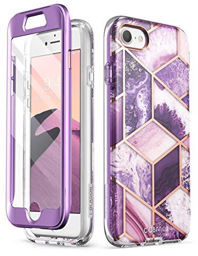 i-Blason Funda iPhone 7/8 [Cosmo] 360 Grados Case con Protector de Pantalla Integrado para iPhone 7 (2016) / iPhone 8 (2017) (Morado)