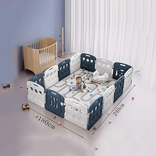 Fantastic Prices! H-wlan Portable Baby Playpen - 14 Panel Kids Activity Center Portable Playard - In...