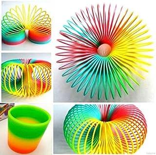 QZ Creative Kids Rainbow Plastic Magic Slinky Toy Children Classic Funny Toys
