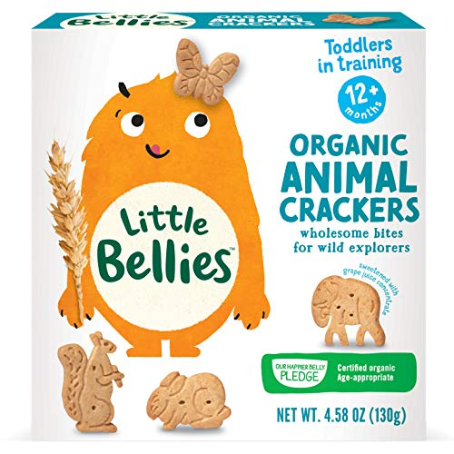 Little Bellies Organic Animal Crackers for 12+ Months, 4.58 Ounce, Pack of 5