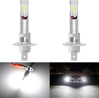 KaTur Extremenly Bright H1 Daytime Running Bulbs Fog Lights TOP Advanced CSP LED Chips Car DRL Led- 6500K Xenon White 1600...
