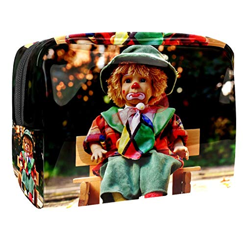 Bolsa de tocador de Viaje Taburete Doll portátil PVC Bolsa de cosméticos de Vistoso de Organizador de Maquillaje con Cremallera Apto para niñas