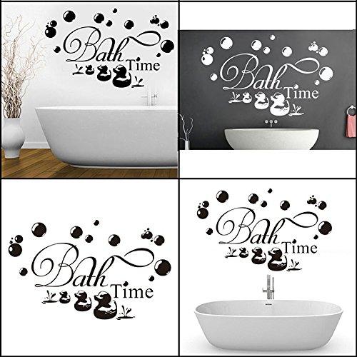 Bazaar 30xSalle de bains d'autocollant murale imperméable de 60 centimètres décalques amovibles papiers muraux de décor de famille
