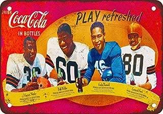 Supvivi Metal Tin Sign African-American Football Stars Wall Decor Sign 8x12 Inches