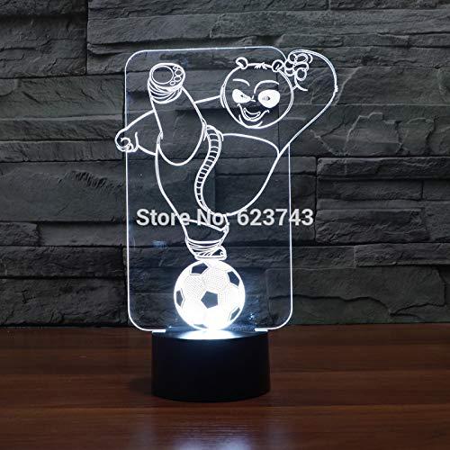 Kung Fu Panda Riesenpanda empfindliche Bearcat 3D LED Nachtlicht USB Tischlampe Kinder Geburtstagsgeschenk Nachtdekoration am Bett