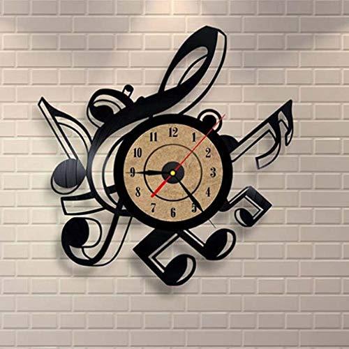 NIUMM Reloj De Pared De Vinilo Sala De Estar De La Novedad Creativa Reloj De Pared De Vinilo Retro Vintage Temas Musicales Reloj De Grabación De CD