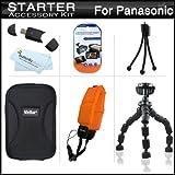 Starter Accessories Kit For Panasonic Lumix DMC-TS25, DMC-TS20, DMC-TS30...