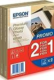 Epson Premium glossy photo paper inkjet 255g/m2 100x150mm 2x40 Blatt Pack - Glacé
