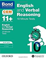 Bond 11+: English & Verbal Reasoning: Cem 10 Minute Tests by Michellejoy Hughes(2016-07-07)