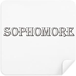DIYthinker Black Words About Sophomore Glasses Cleaning Cloth Phone Sc...
