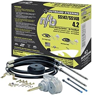 SeaStar SS148xx No Feedback 4.2 Rotary Steering Kit With Dual Quick Connect Cables