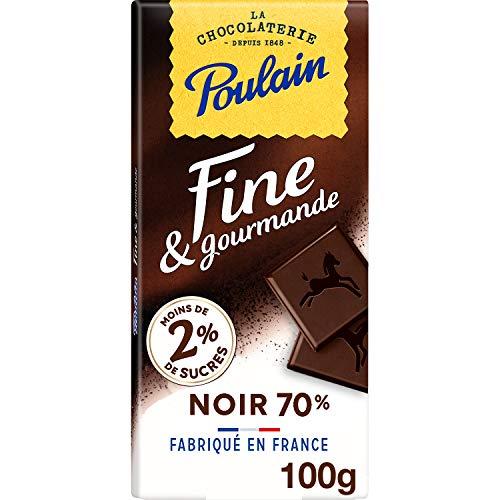 Poulain Tablette de Chocolat Ligne gourmande Noir 100 g
