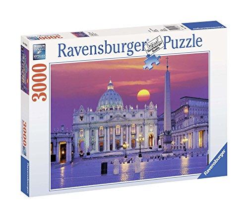 Ravensburger Puzzle 3000 Pezzi, Basilica di San Pietro, Puzzle Roma, Collezione Paesaggi & Foto, Puzzle Ravensburger - Stampa di Alta Qualità