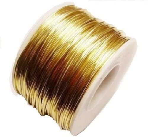 18 Ga Red shopping Brass Jewelry Wire 5 Ft. Spool Max 60% OFF Soft Oz 70 Solid