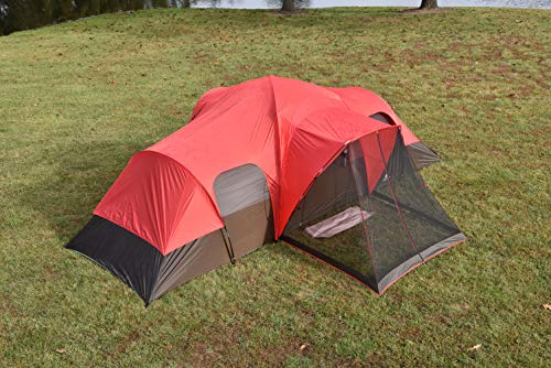 Ozark WT172115 Trail 10-Person Family Tent, Red